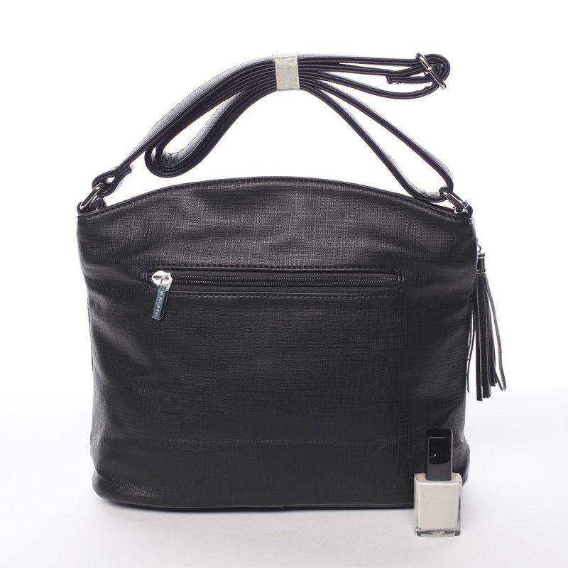 Módní crossbody kabelka Giada s originálním potiskem, černá