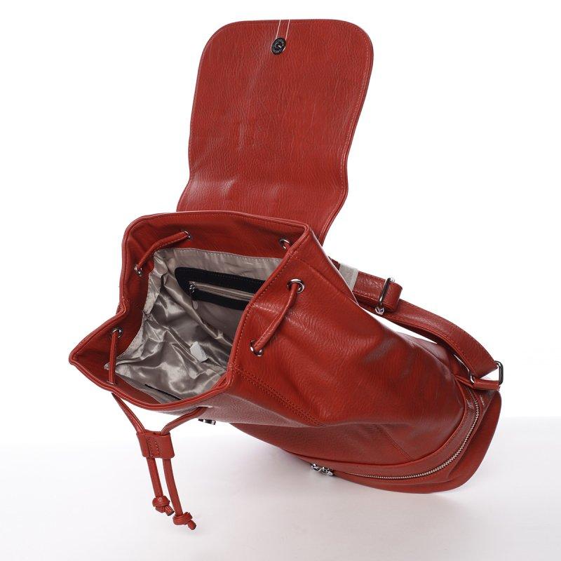 Nadčasový dámský batoh Gaia, červený