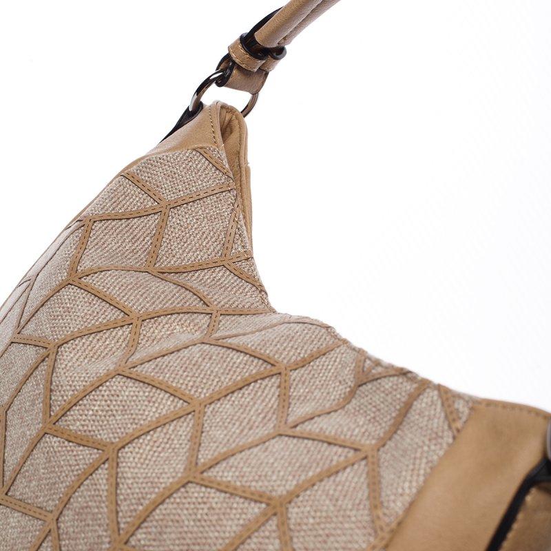 Elegantní dámská kabelka přes rameno Federica, světle béžová