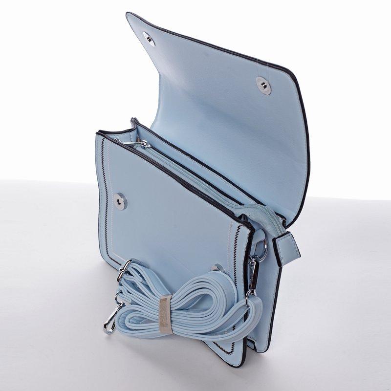 Elegantní pevná crossbody kabelka Laura, nebezky modrá