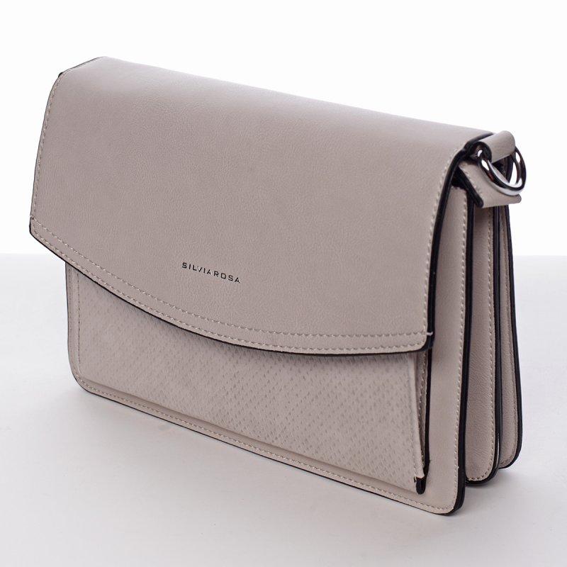 Luxusně elegantní crossby kabelka Martina, světle písková