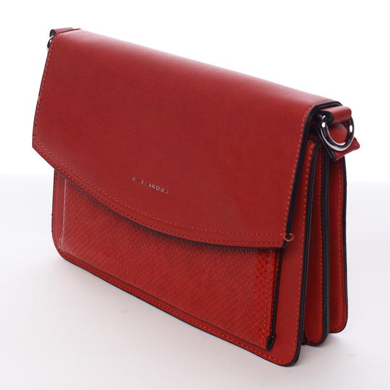 Luxusně elegantní crossby kabelka Martina, červená