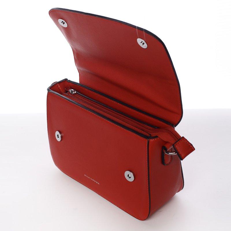 Luxusní crossbody kabelka Federica, červená