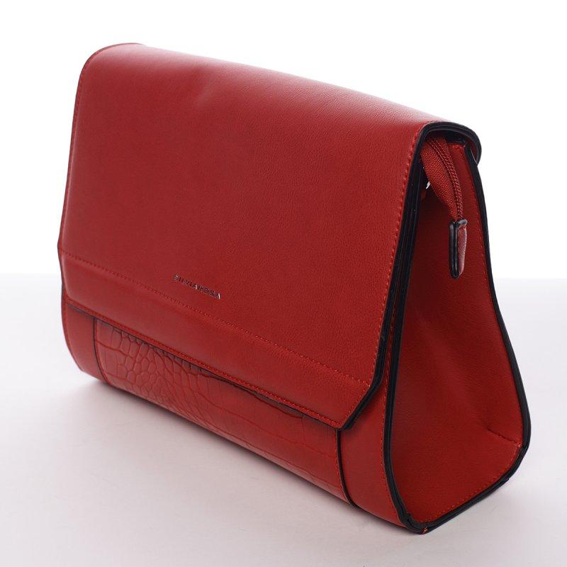 Elegantní crossbody kabelka Paola, červená