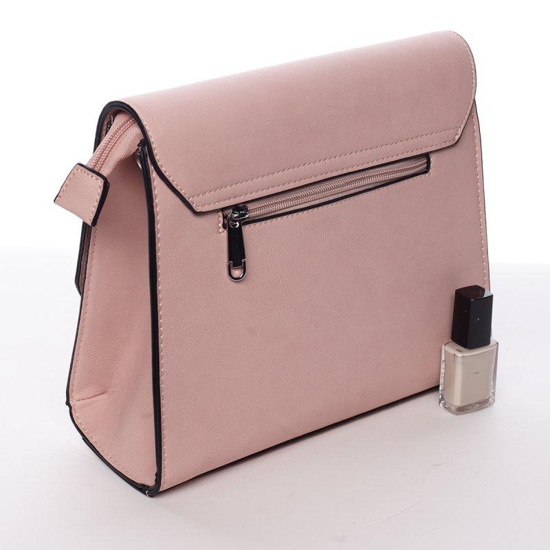 Elegantní crossbody kabelka Paola, růžová