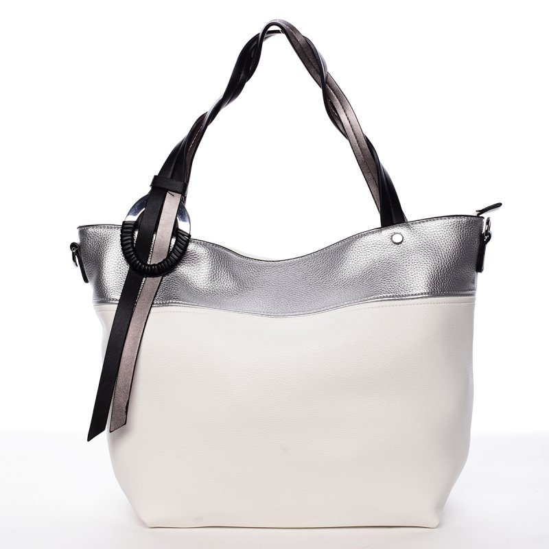Nadčasová kabelka přes rameno Nicole, bílá