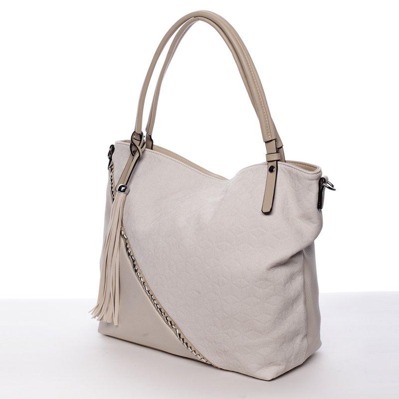 Originální kabelka přes rameno Camilla, béžová
