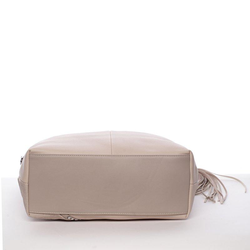 Originální kabelka přes rameno Camilla, béžovo-šedá