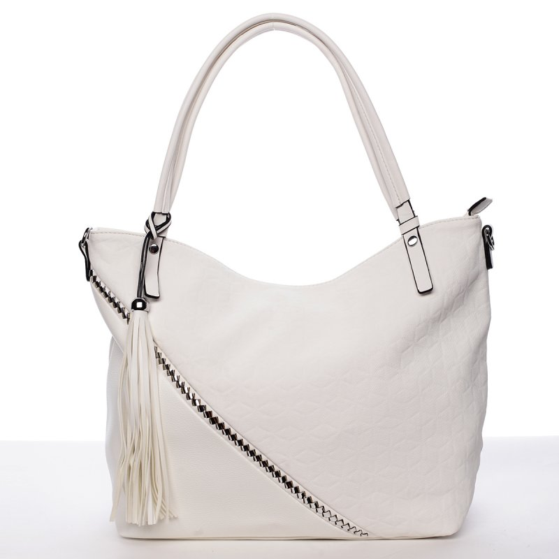 Originální kabelka přes rameno Camilla, bílá