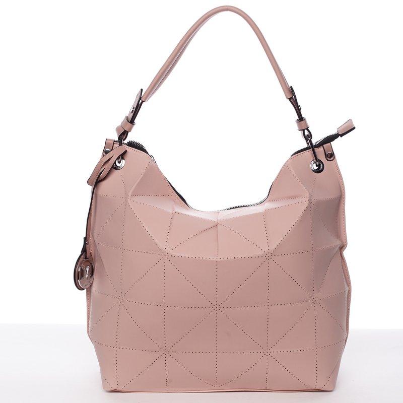 Stylová a nadčasová kabelka Beatrice, růžová
