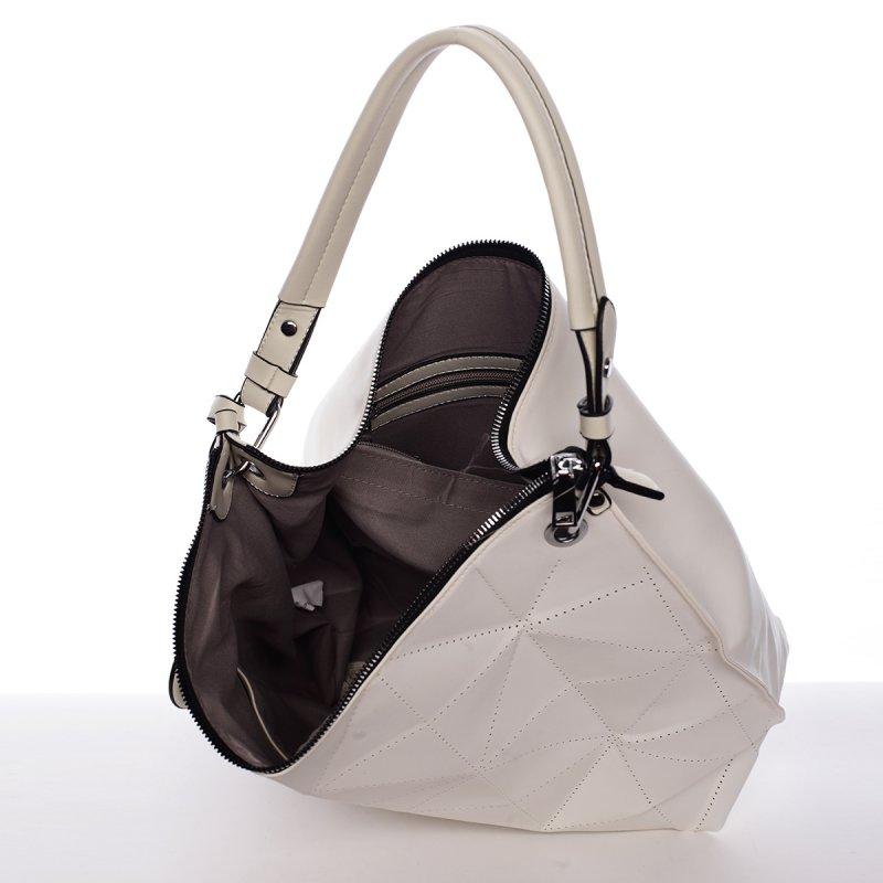 Stylová a nadčasová kabelka Beatrice, krémově bílá