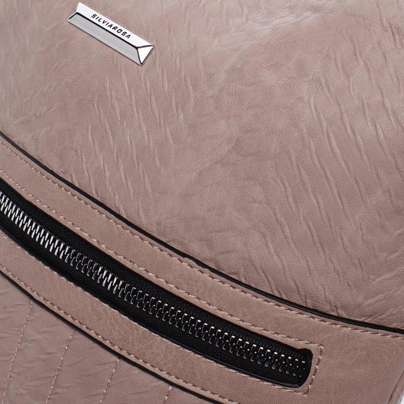 Moderní crossbody kabelka Silvia Rosa Flor, růžová