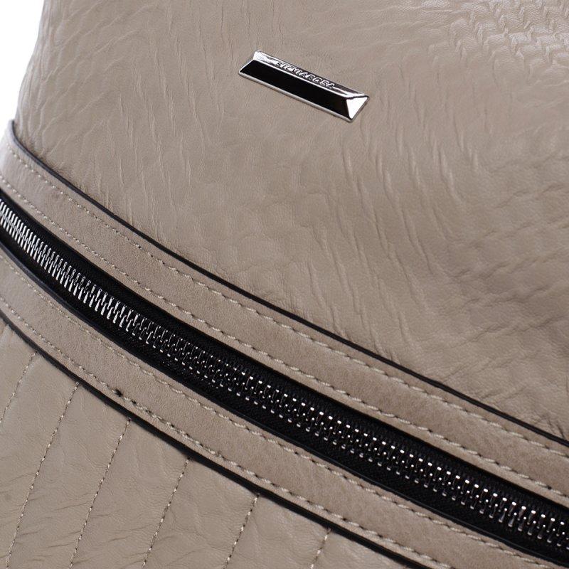 Moderní crossbody kabelka Silvia Rosa Flor, béžová