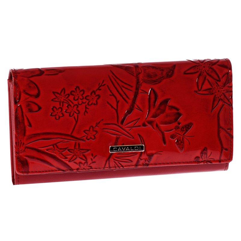Elegantní kožená peněženka Cavaldi Fiona, červená