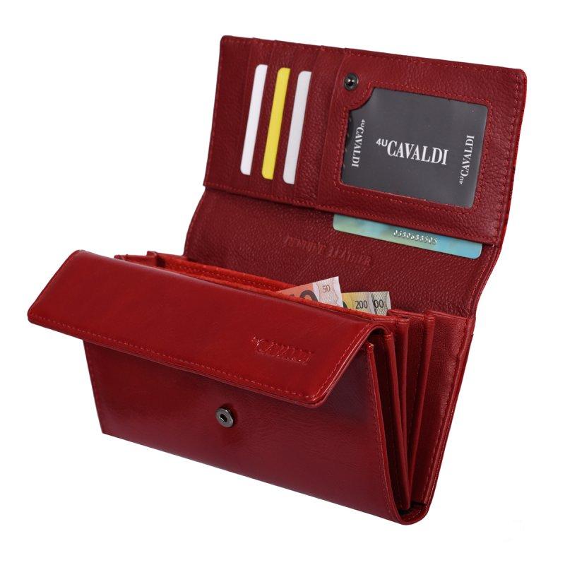 Kožená dámská peněženka Gisela, červená