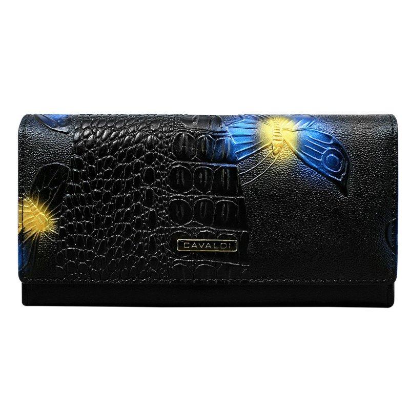 Kožená peněženka Cavaldi Juana, modrá