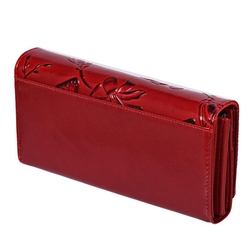 Okouzlující červená peněženka s motýlky Cavaldi Marina