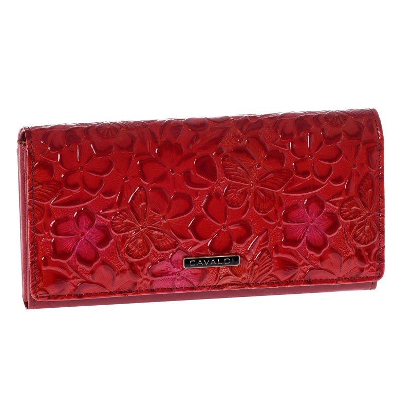Originální kožená peněženka Mara Cavaldi, červená