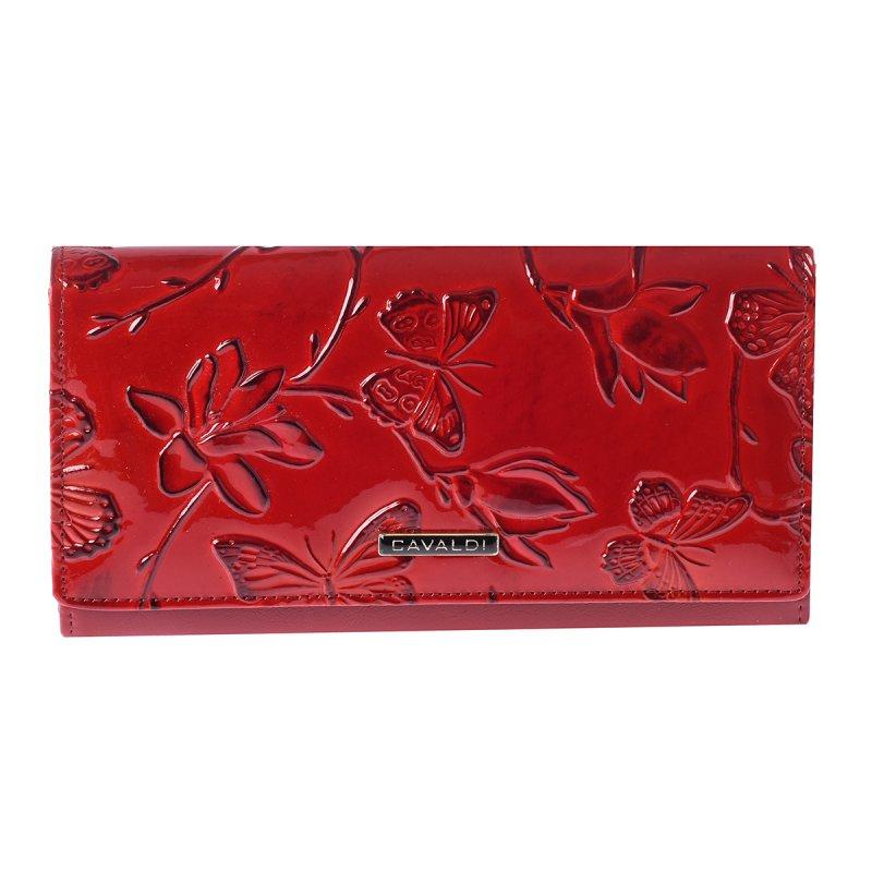 Svěží červená kožená peněženka Tatiana