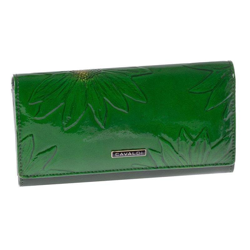 Kožená dámská peněženka, zelená