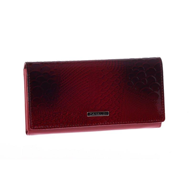Nadčasová dámská kožená peněženka, červená