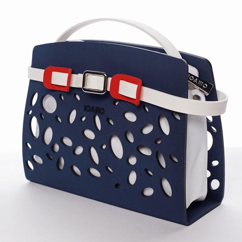 Tmavě modrá italská crossbody kabelka Christine IOAMO