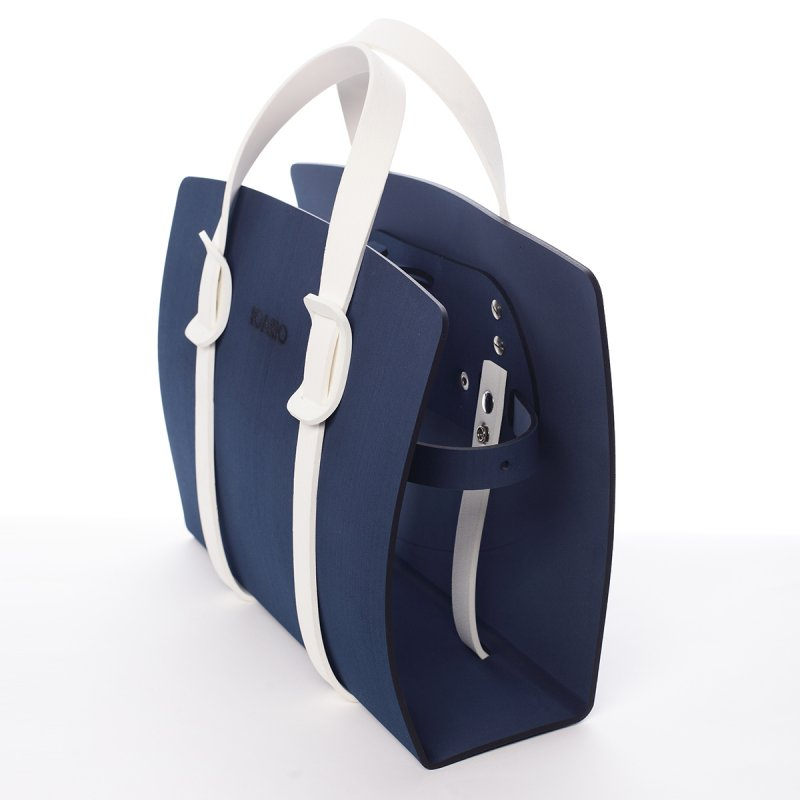 Námořnicky modrá stylová italská kabelka Zaccaria IOAMO