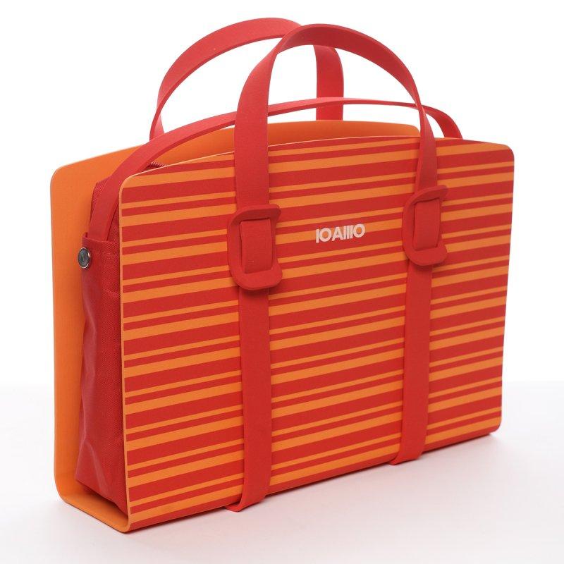 Extravagantí oranžová italská kabelka Frediano IOAMO