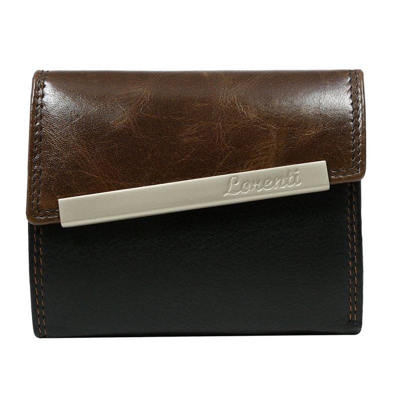 Dámská rozkládací kožená peněženka Sidónia hnědá