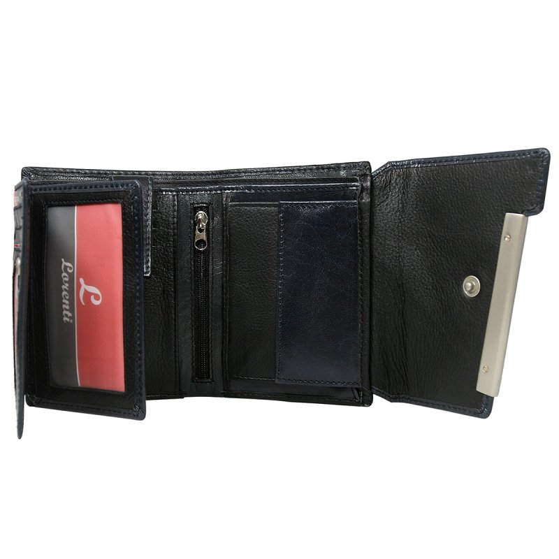 Dámská rozkládací kožená peněženka Pavla modrá