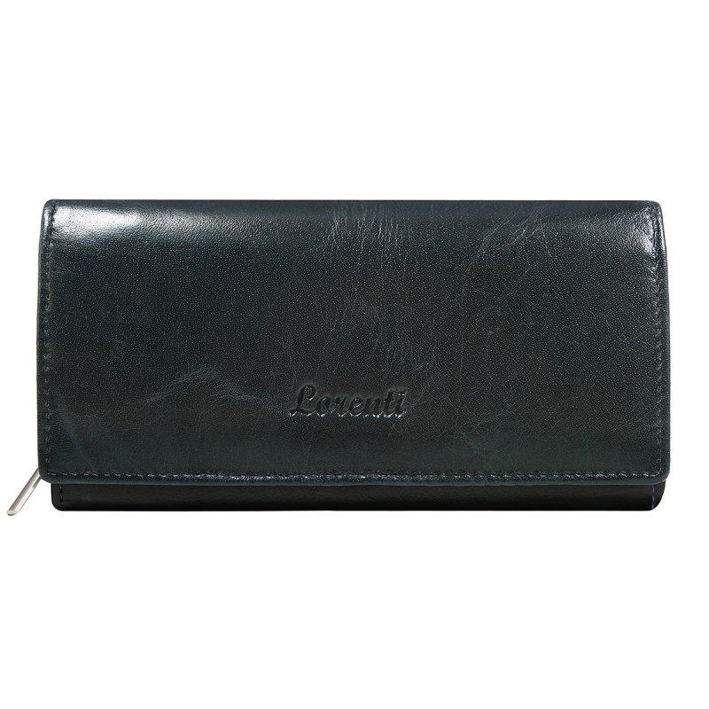 Dámská klasická kožená peněženka Květa modrá