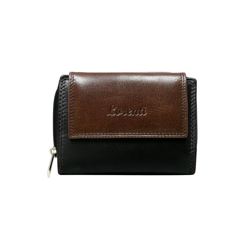 Dámská malinká kožená peněženka Milana hnědá