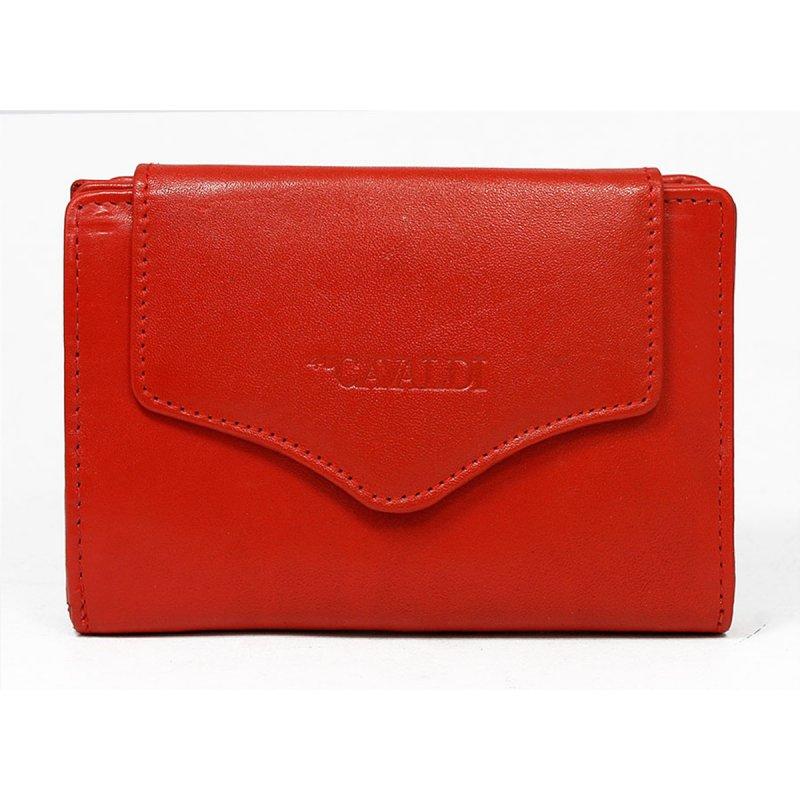 Dámská menší kožená peněženka Herta červená