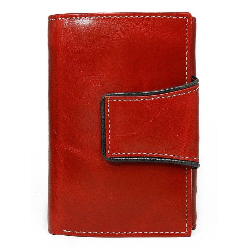 Dámská stylová kožená peněženka Margita červená