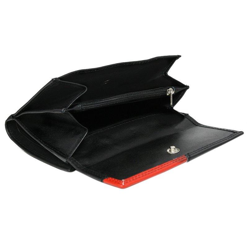 Dámská hravá kožená peněženka Gita černá/červená