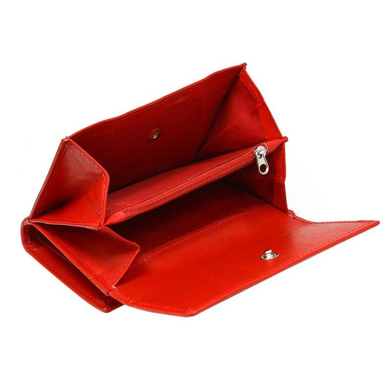 Dámská hravá kožená peněženka Gita červená