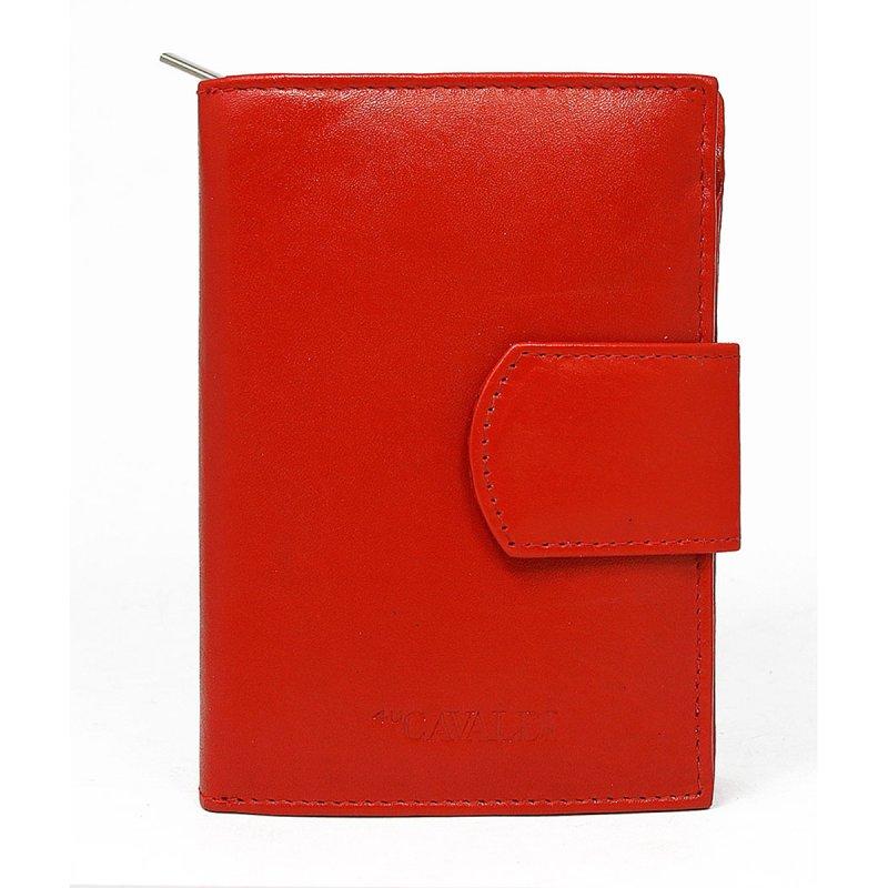 Dámská rozkládací kožená peněženka Lenka červená