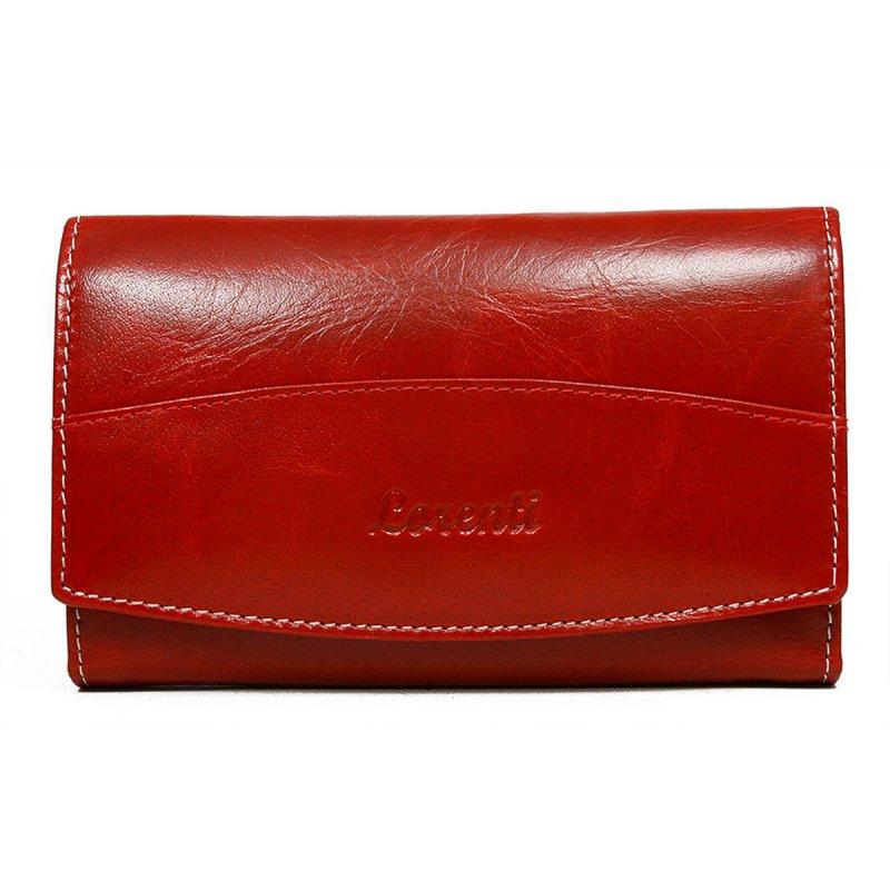 Dámská hravá kožená peněženka Karolína červená