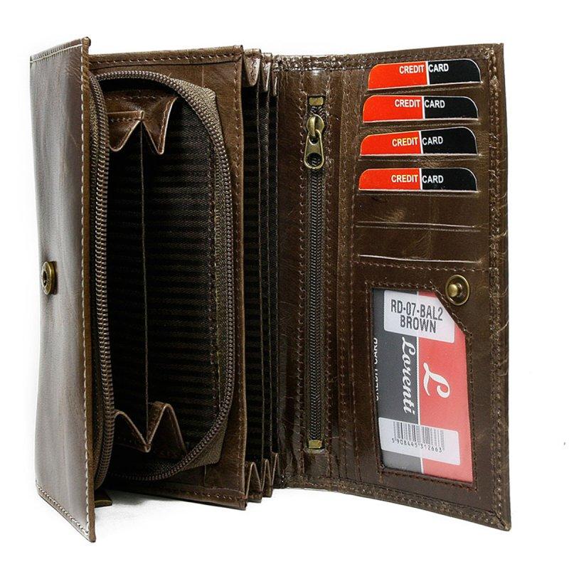 Dámská stylová kožená peněženka Oxana hnědá