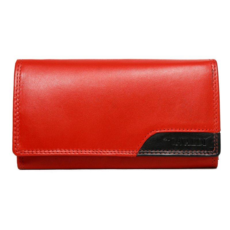 Dámská kožená peněženka Nela červená/černá