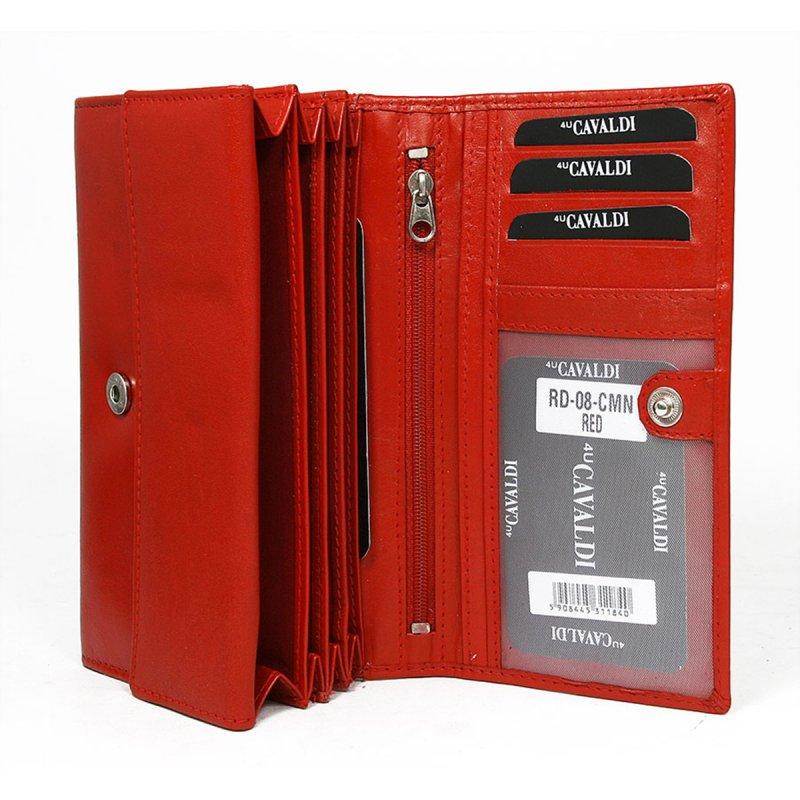 Dámská klasická kožená peněženka Laura červená