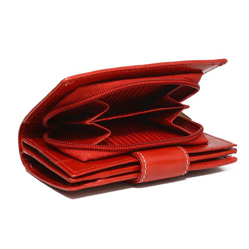 Dámská kožená peněženka Nela červená