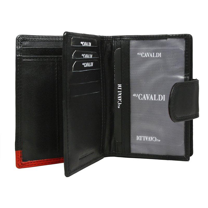 Dámská kožená peněženka Petrana černá/červená