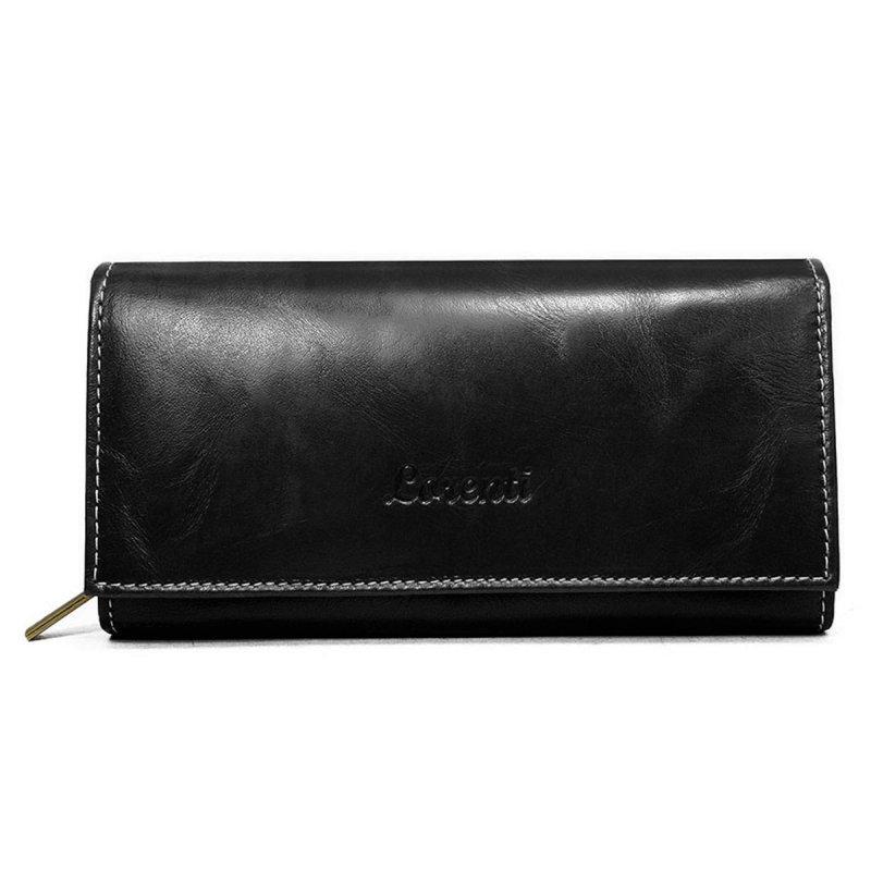 Dámská kožená peněženka Kamila černá