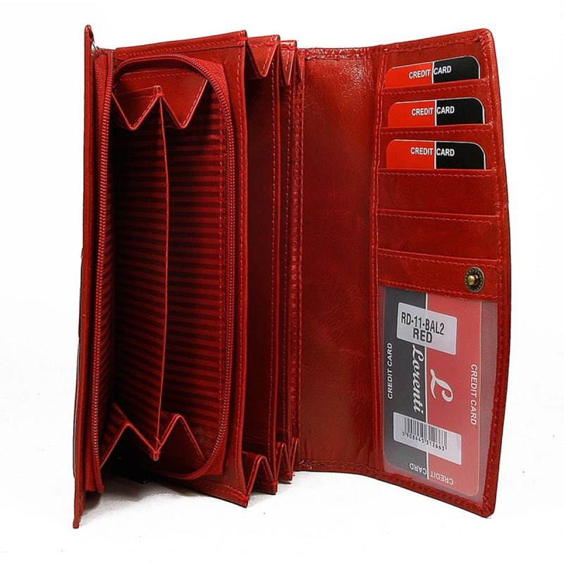 Dámská kožená peněženka Vilma červená