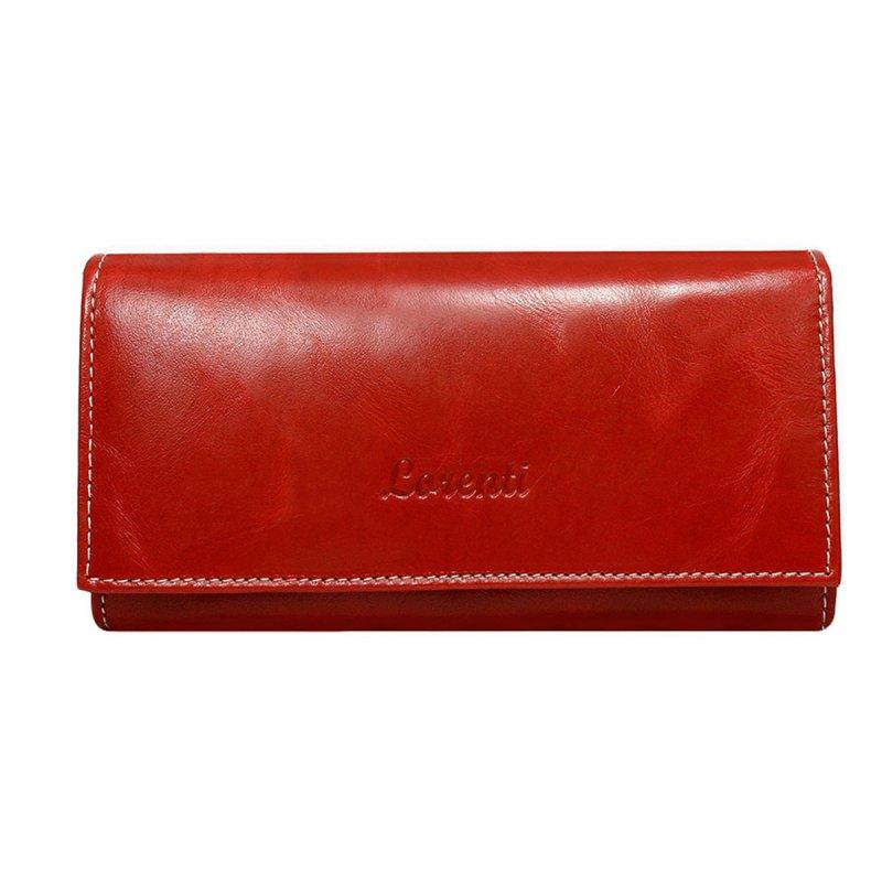 Dámská kožená peněženka Iveta červená