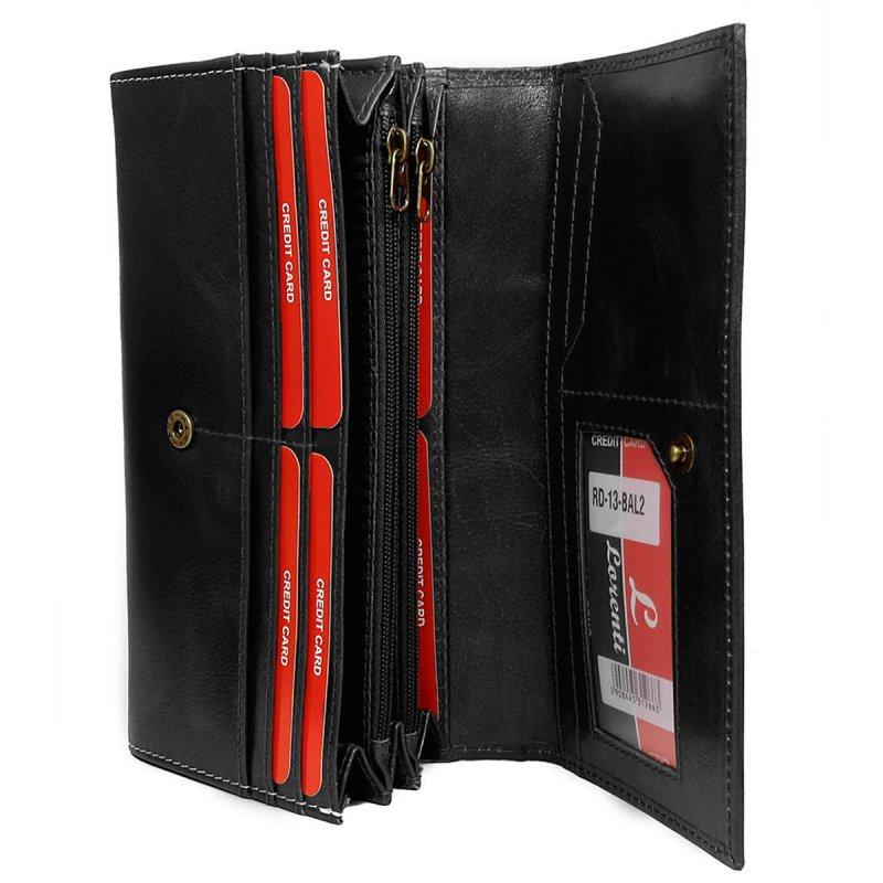 Dámská kožená peněženka Viola černá