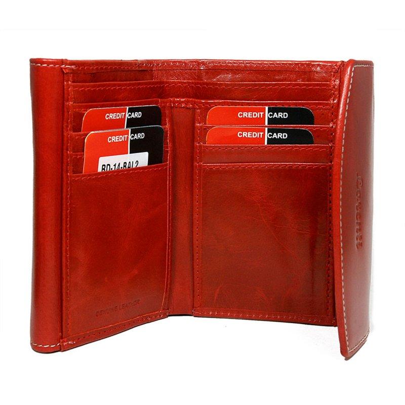 Dámská hravá kožená peněženka Ela červená