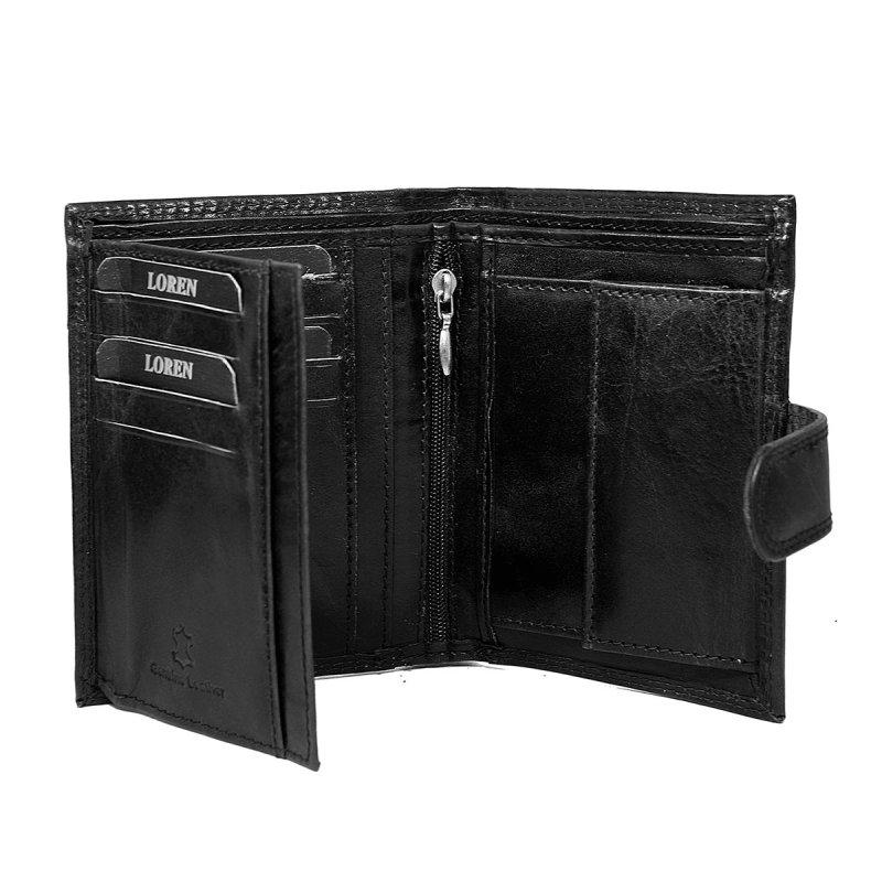 Pánská prostorná kožená peněženka Ludomil černá