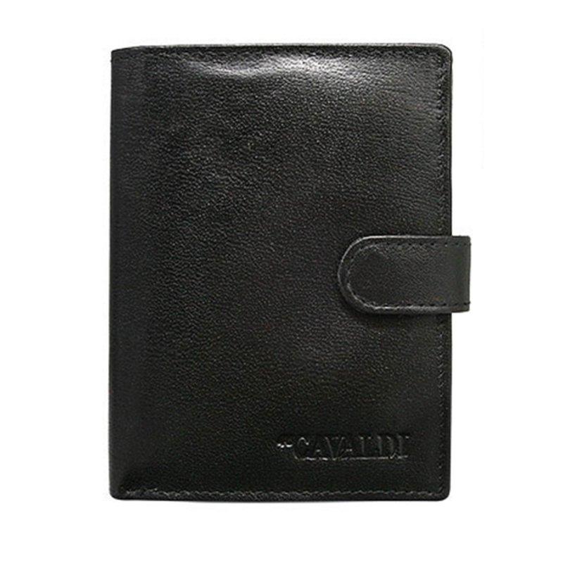 Pánská kožená peněženka se zapínáním Denis černá